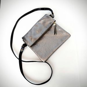 Zina Kao Crossbody Silver Leather Bag